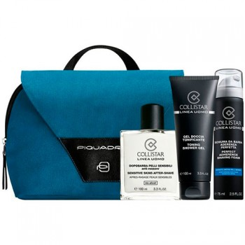 Estuche Collistar Sensitive Skins After-Shave 100 ml + Gel de Ducha 100 ml + Espuma de afeitado 75 ml + Neceser