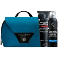 Collistar Uomo Line 3 in 1 Shower - Shampoo + Perfect Adherence Shaving Foam Gift Set Travel Bang