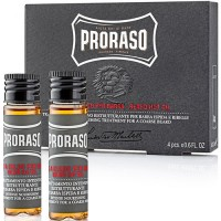 Proraso Beard Hot Oil Intense Nourishing Treatment For a Coarse Beard 4 x 17 ml