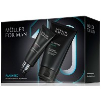 Estuche Moller For Man  Flashtec Crema Antiedad Urban Defender 50 ml + Crema de Afeitar Cara y Cuerpo 125 ml