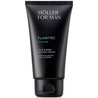 Moller For Man Flashtec Shaving Crema de Afeitar Cara y Cuerpo 125 ml