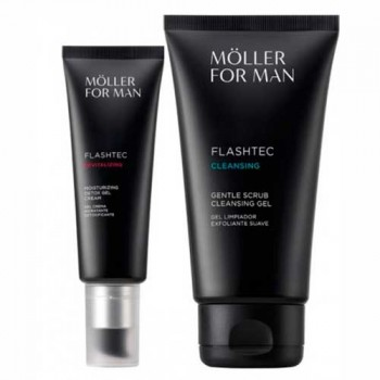 Anne Moller Man Gel Cream Moist 50 ml + Clean Exfoliante 150 ml
