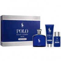 Ralph Lauren Polo Blue Men Eau de Parfum 125 ml Gift Set Deo Spray 75 ml + Body Shower 100 ml