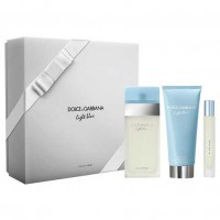Estuche Dolce  Gabbana Light Blue Woman Edt 100 ml + Loción Hidratante 100 ml + Miniatura 74 ml