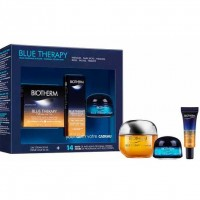 Estuche Biotherm Blue Therapy Crema Nutritiva Y Reparadora 50 ml + Blue Therapy Serum 10 ml + Blue Therapy Night 15 ml