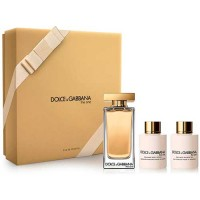 Estuche Dolce  Gabbana The One Woman Edt 100 ml + Loción Hidratante 100 ml + Gel de Ducha 100 ml