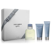 Dolce  Gabbana Light Blue Homme Edt 125 ml Gift Set After Shave 75 ml + Body Shower 50 ml