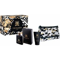 Trussardi Uomo Edt 100 ml Gift Set Body Shower 100 ml + Dressing Case