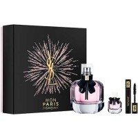 Estuche Yves Saint Laurent Mon Paris Edp 90 ml + Mini Máscara de Pestañas Volume Effect Faux CIils 2 ml + Miniatura Mon Paris