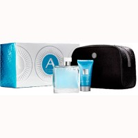 Estuche Azzaro Chrome Edt 100 ml + Gel de Ducha 50 ml + Neceser