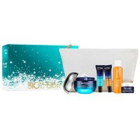 Estuche Biotherm Blue Therapy Accelerated 50 ml + Blue Therapy Accelerated Serum 10 ml +  Blue Therapy Serum Noche 10 ml + Bioso