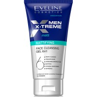 Eveline Men X-treme Gel Limpiador facial 6 en 1 Matificante 150 ml